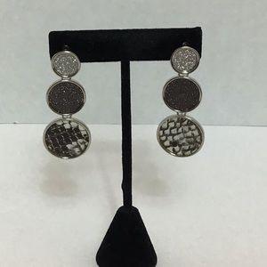 BeBe: Triple Circle Drop Earrings
